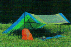 Ultralight shelter tarp.