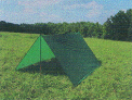 Ultralight shelter tarpaulin.