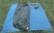 Ground cloth for bivouacing